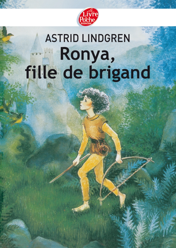 Couverture française du roman suédois : Ronya, fille de brigand