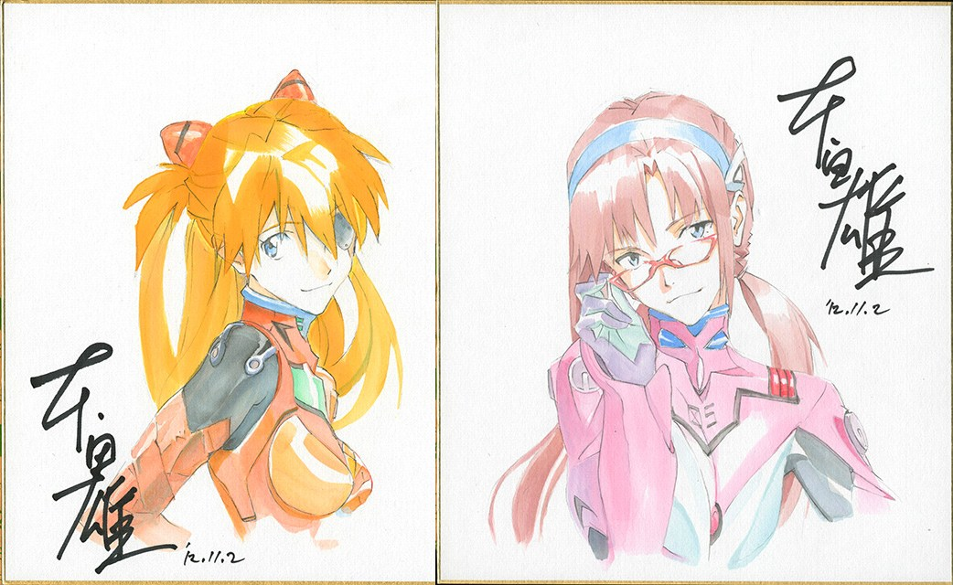 Asuka et Mari, par Honda Takeshi, animateur sur la franchise