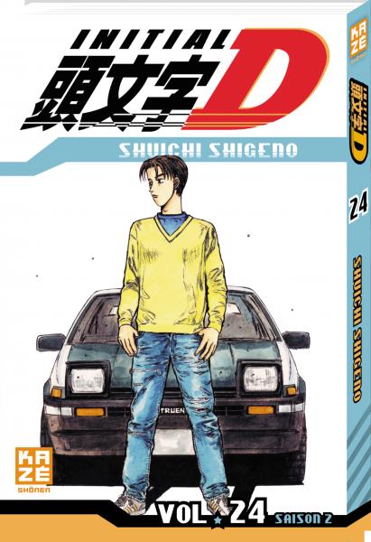 Initial D: couverture du tome 24 (Kazé manga)