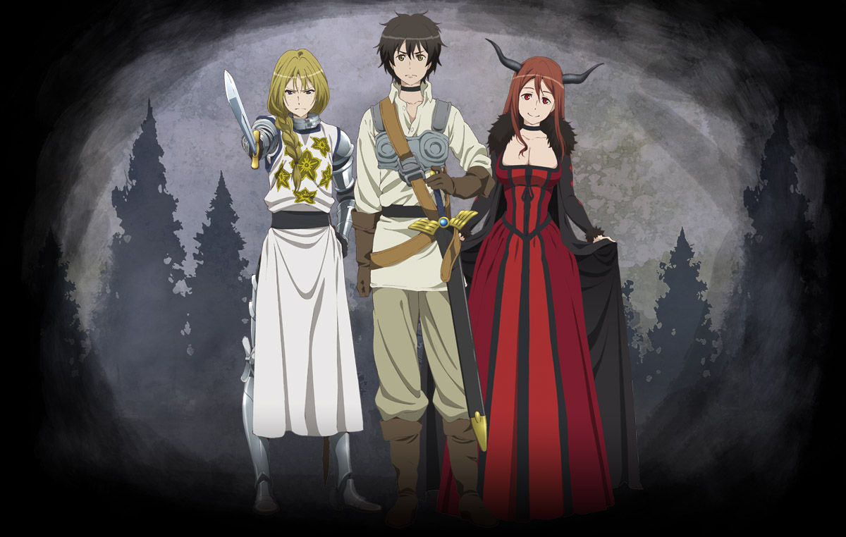 Visuel clé de l'anime Maoyuu Maou Yuusha