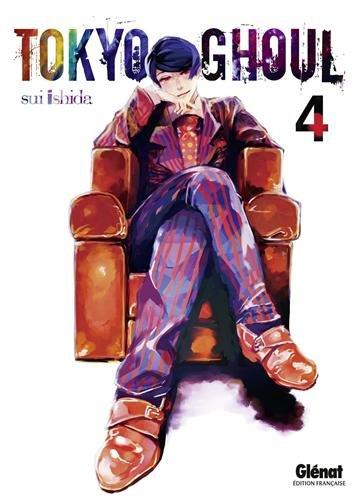 Couverture française du tome 4 de Tokyo Ghoul (Glénat)