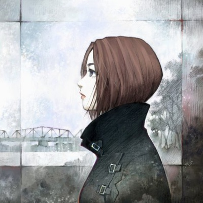 Illustration du single Sakura Nagashi par Sadamoto Toshiyuki