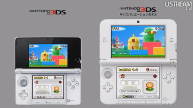 Comparaison taille d'écran 3DS-3DS XL