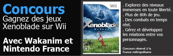 Gagne des jeux Xenoblade sur Wii avec Nintendo France et Wakanim !