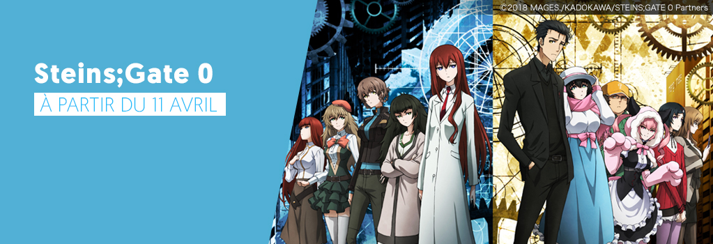 Steins;Gate 0 en avril sur Wakanim