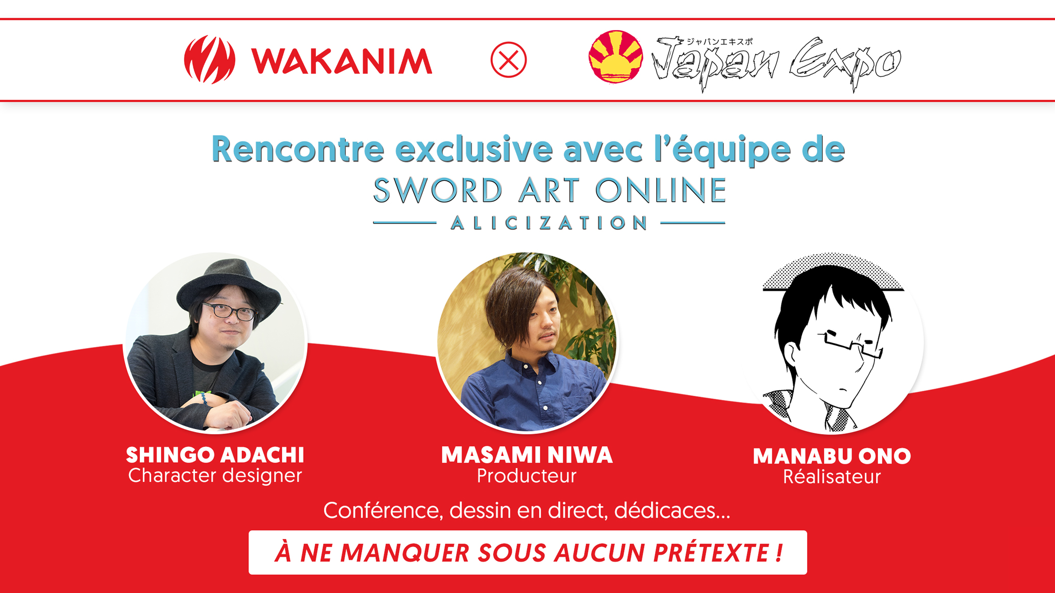 L'équipe de Sword Art Online à Japan Expo