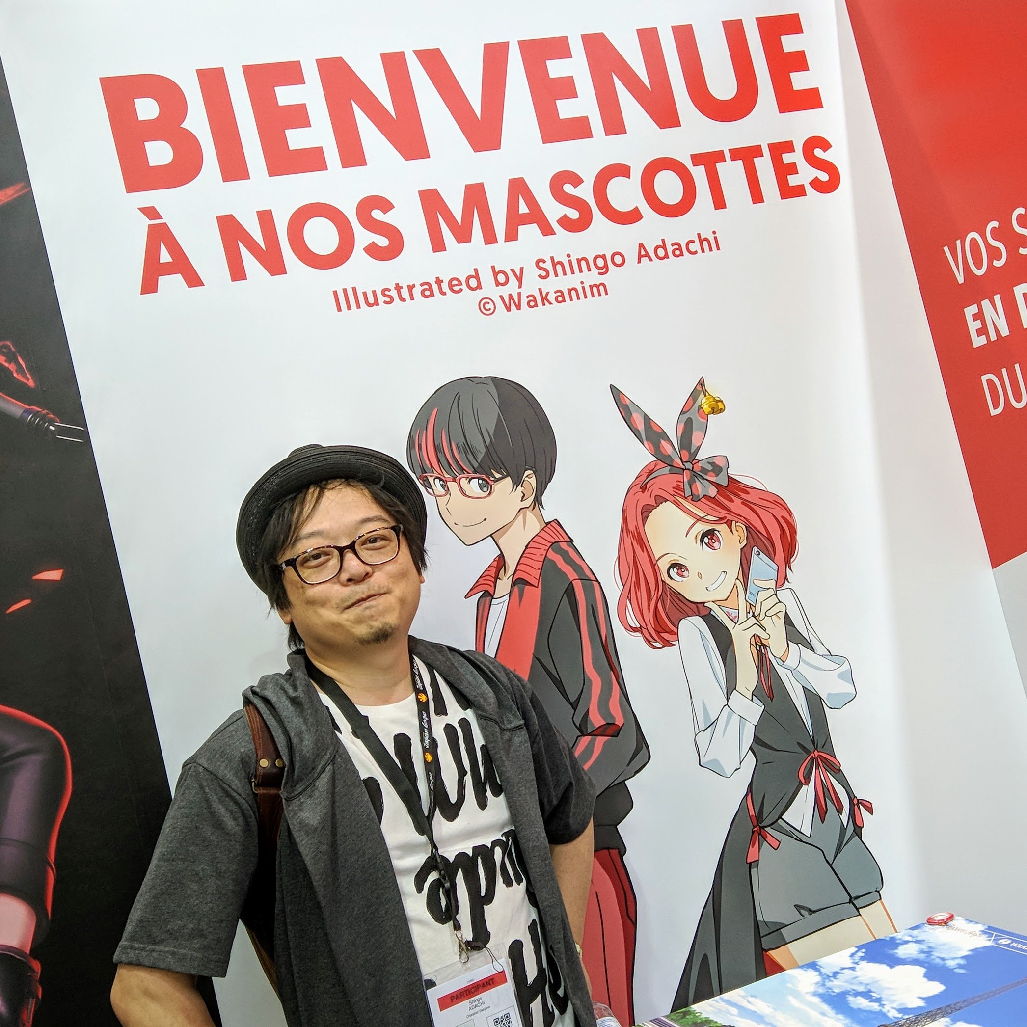 Shingo Adachi, Waka-kun and Mina-chan at Japan Expo 18