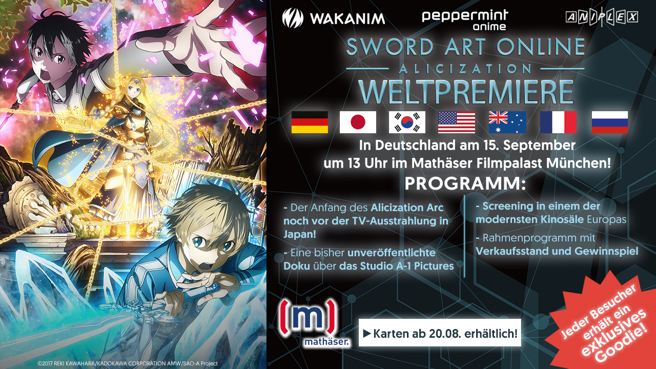 Weltpremiere SAO Alicization