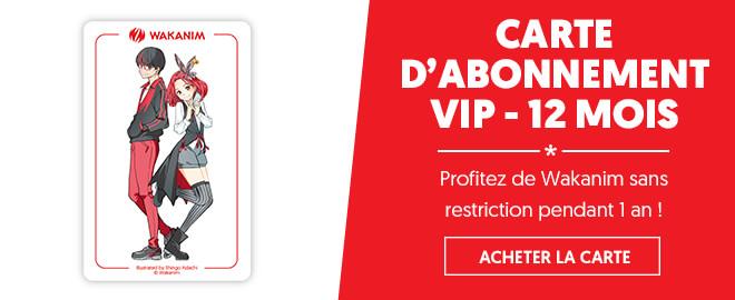 CARTE ABONNEMENT VIP 12 MOIS